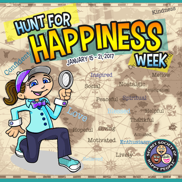 hunt for happiness week 2017, secret society of happy people. SOHP.com