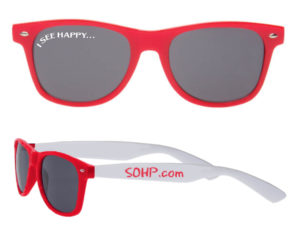 Sunglasses 8855 SOHP Red - White