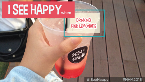 Happiness Happens Day, Drinking Pink Lemonade, #HHM2016