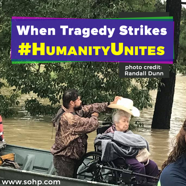 #HumanityUnites, Hurricane Harvey, SOHP.com, Pamela Gail Johnson, humanity unites
