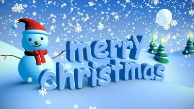 Merry Christmas Snow Scene - Secret Society Of Happy People