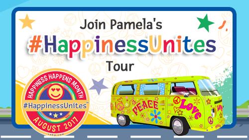 #HappinessUnites Tour, Pamela Gail Johnson, Happiness Happens month,