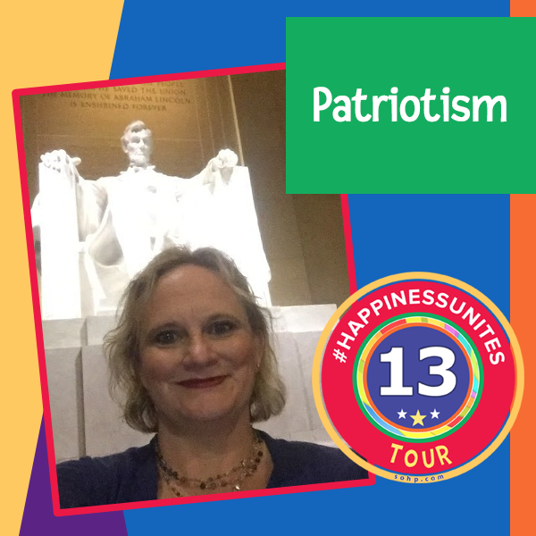 #HappinessUnites Tour, Patriotism, Washington DC, Lincoln Monument, Pamela Gail Johnson, SOHP.com, #HappinessUnites