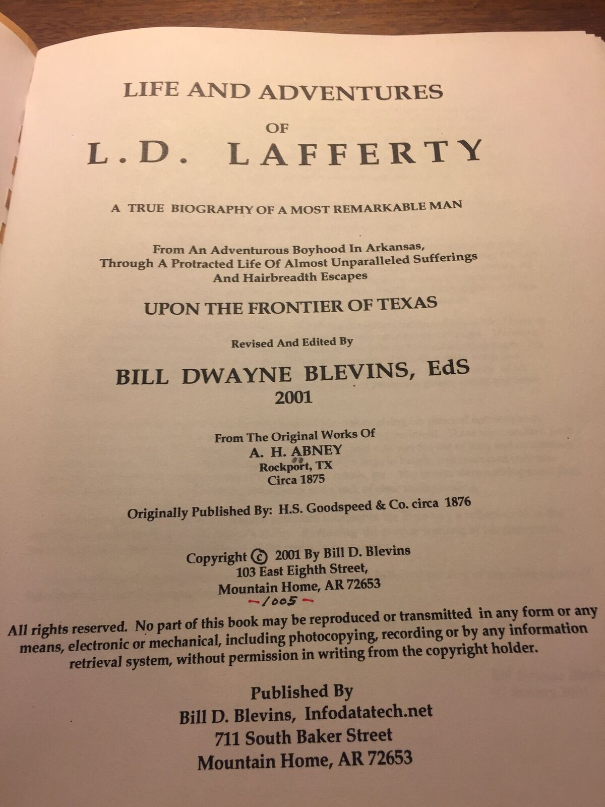 Library of Congress - Life & Times Reprint