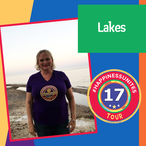 #HappinessUnites Tour, #HappinessUnites, Lakes, SOHP.com, Pamela Gail Johnson