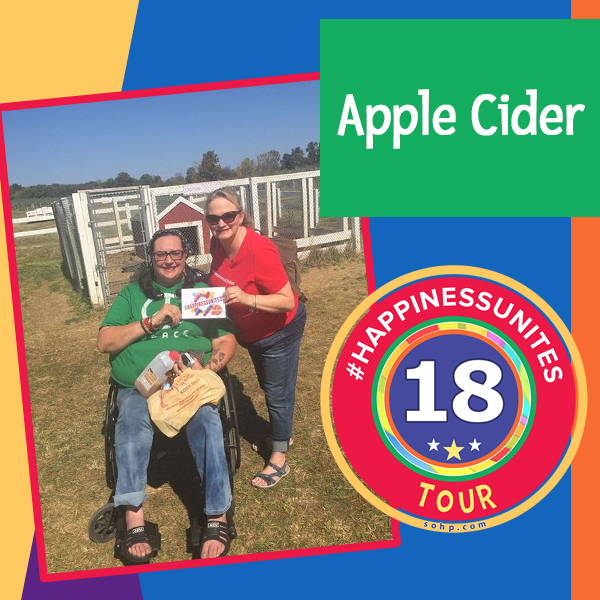 $HappinessUnite Tour, #HappinessUnites, Apple Cider, Pamela Gail Johnson, SOHP.com