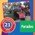 #HappinessUnites Tour, #HappinessUnites, SOHP.com, Secret Society of Happy People, Parades, Pamela Gail Johnson