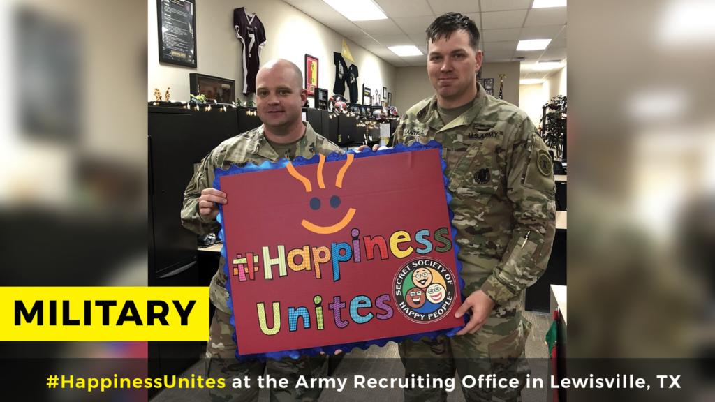 #HappinessUnites Tour, #HappinessUnites, Professions, SOHP.com, Secret Society of Happy People, SOHP.com, Pamela Gail Johnson, military