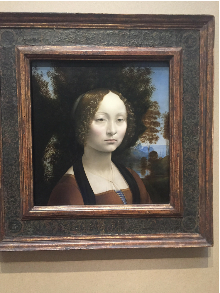 Ginevra de' Benci - 1474 - 1478, National Gallery of Art, #HappinessUnites Tour, Pamela Gail Johnson, SOHP.com