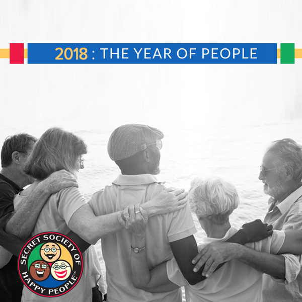 2018 Year Of People, Secret Society of Happy People, Pamela Gail Johnson, SOHP.com, #HappinessUnites