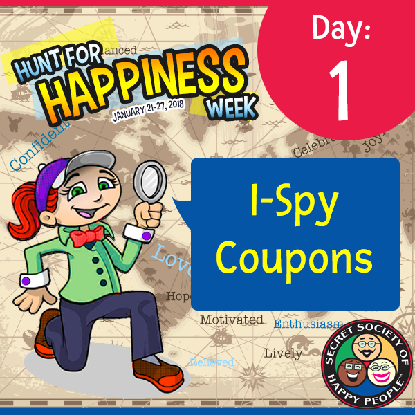 Hunt For Happiness Week 2018 - Day 1 Activity, Secret Society of Happy People, SOJP.com