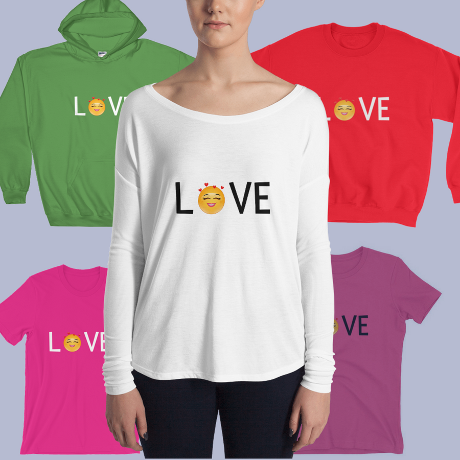 """LOVE"" Tee shirt Collection, $HappinessUnites Geat, SOHP.com"