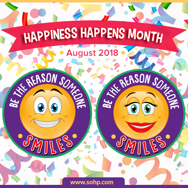 Happiness Happens Month 2018, HHM2018, Secret Society of Happy People, SOHP.com, Pamela Gail Johnson