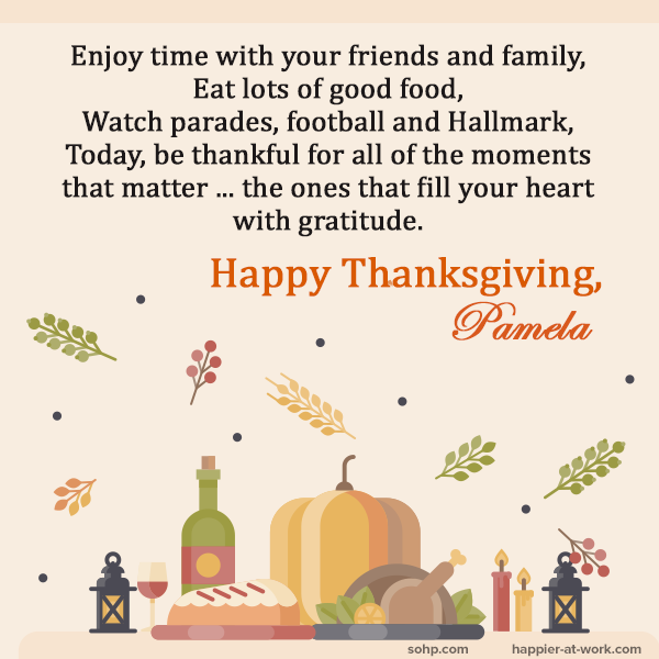 Thanksgiving 2018, Happy Thanksgiving, Secret Society of Happy People, SOHP.com, Pamela Gail Johnson